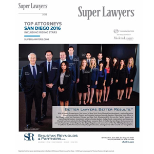 We Congratulate Our Firm's 2016 SuperLawyers